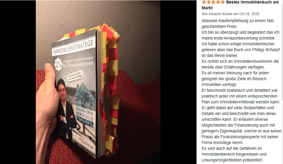 Immobilienfinanzierung Buch Investor Immotege Bestes Immobilienbuch am Markt Philipp Scharpf Amazon